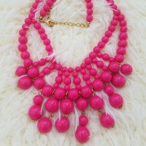 Pink beaded necklace
